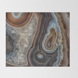 Mocha swirl Agate Throw Blanket