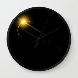 yellow lens flare Wall Clock