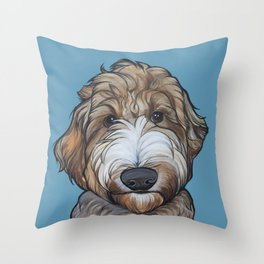 Seamus the Labradoodle Throw Pillow