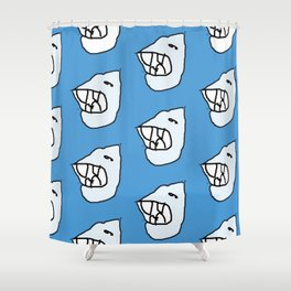 Sharksea by Si Shower Curtain