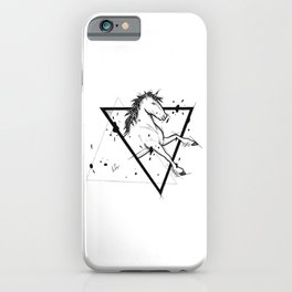 Horse Handmade Drawing, Made in pencil and ink, Tattoo Sketch, Tattoo Flash, Blackwork iPhone Case