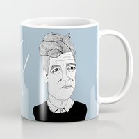 lynch Mugs featuring David Lynch by Elena Éper