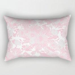 Blush pink watercolor girly floral Rectangular Pillow