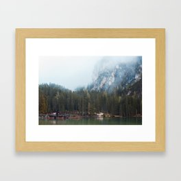 Lake Braies Framed Art Print