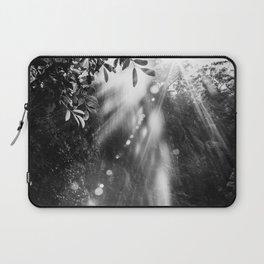 Amazing waterfall in sunshine forest - fine art Laptop Sleeve