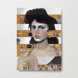 Klimt's Portrait & Anna Magnani Metal Print
