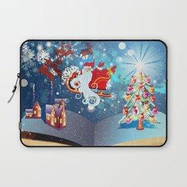Christmas Magic Book with Santa Laptop Sleeve