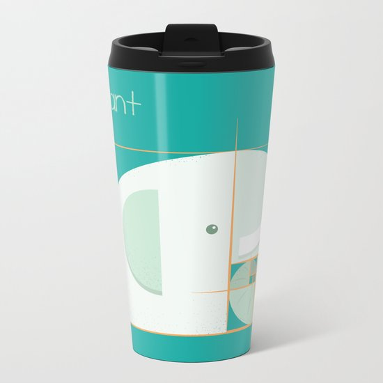 Fibonacci elephant Metal Travel Mug