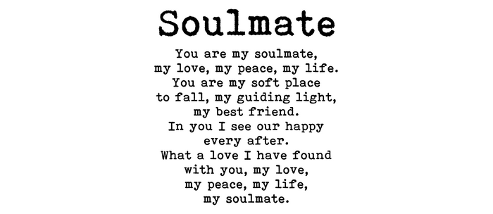 You are my soulmate, love poem Kaffeebecher