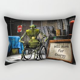 Will Work For Energy Rectangular Pillow