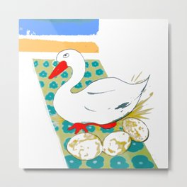 The Goose that Laid the Golden Eggs Metal Print
