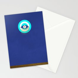 Blue Evil Eye tears of protection Stationery Cards