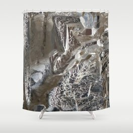 Silver Crystal First Shower Curtain