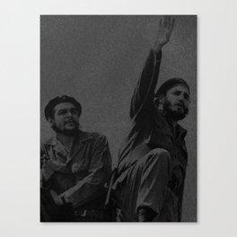 Che Guevara & Fidel Castro in 1961 Canvas Print