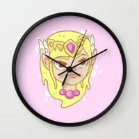zelda Wall Clocks featuring  Zelda  by HypersVE