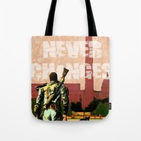 fallout Tote Bags featuring Fallout 3 by Dayle Kornely
