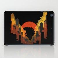 godzilla iPad Cases featuring Godzilla by Jennifer McMahon