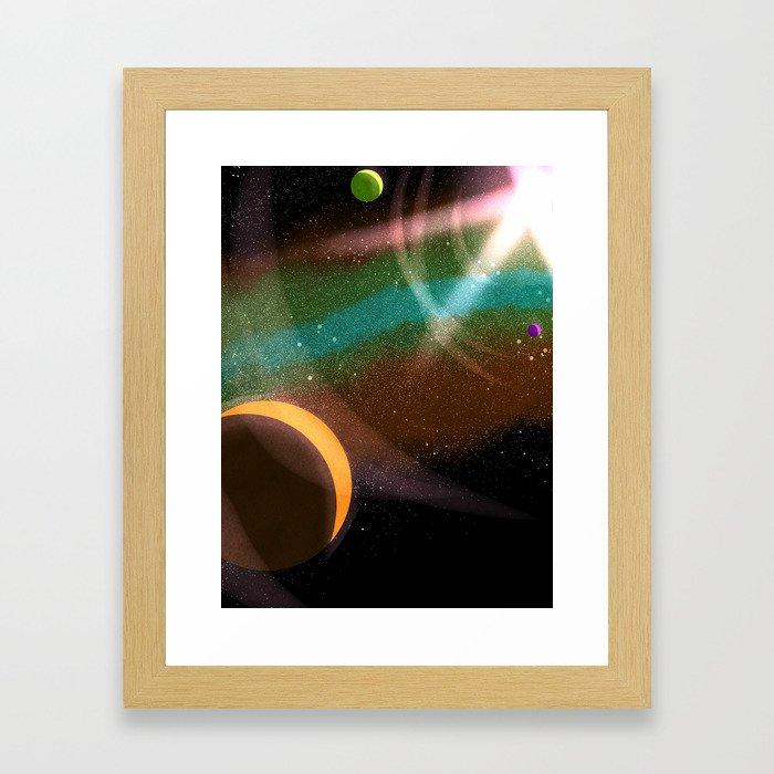Some Inevitable Orbits Framed Art Print