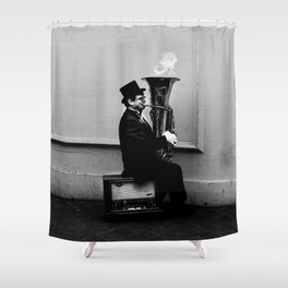 Tuba Fire Shower Curtain