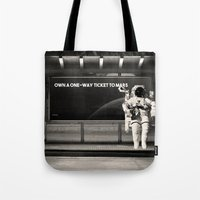 astronaut Tote Bags featuring Astronaut by eARTh