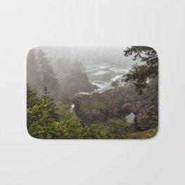 Fog Over Natural Bridges Bath Mat