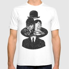 René Magritte MEDIUM Mens Fitted Tee White