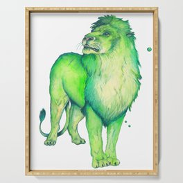 Green Lion Serving Tray