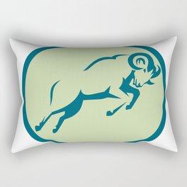 Mountain Sheep Jumping Circle Icon Rectangular Pillow