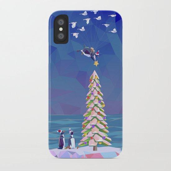 Christmas Flight iPhone Case