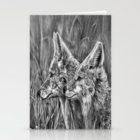 coyote Stationery Cards featuring Coyote by Patrick Entenmann