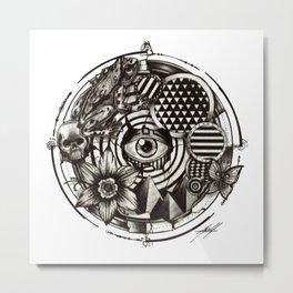 Circle Eye Metal Print