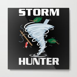 Storm Hunter Tornado Cyclone Motif Metal Print