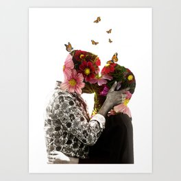 Flower couple Art Print