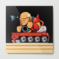 Megaman vs Dick Cheney Metal Print