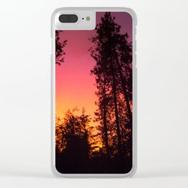 A Colorful Idaho Sunset Clear iPhone Case