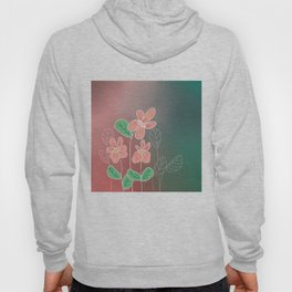 Abstract Flowers - Colorful, Floral Illustration  Hoody