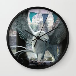 The white griffon Wall Clock