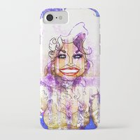 dolly parton iPhone & iPod Cases featuring DOLLY PARTON by Jessica Dudfield