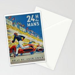 24hs Le Mans, 1959, vintage poster Stationery Cards