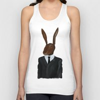 lawyer Tank Tops featuring David Lynch | Rabbit by FAMOUS WHEN DEAD