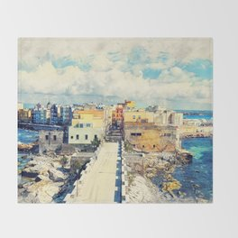 Trapani art 18 Sicily Throw Blanket