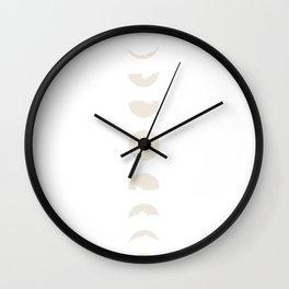 blushing moons Wall Clock