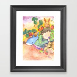 Nina is sleeping! Framed Art Print