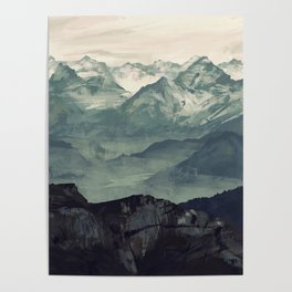 Mountain Fog Poster