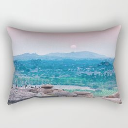 Sunset in the Lost World Rectangular Pillow