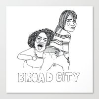 broad city Canvas Prints featuring Broad City by ☿ cactei ☿