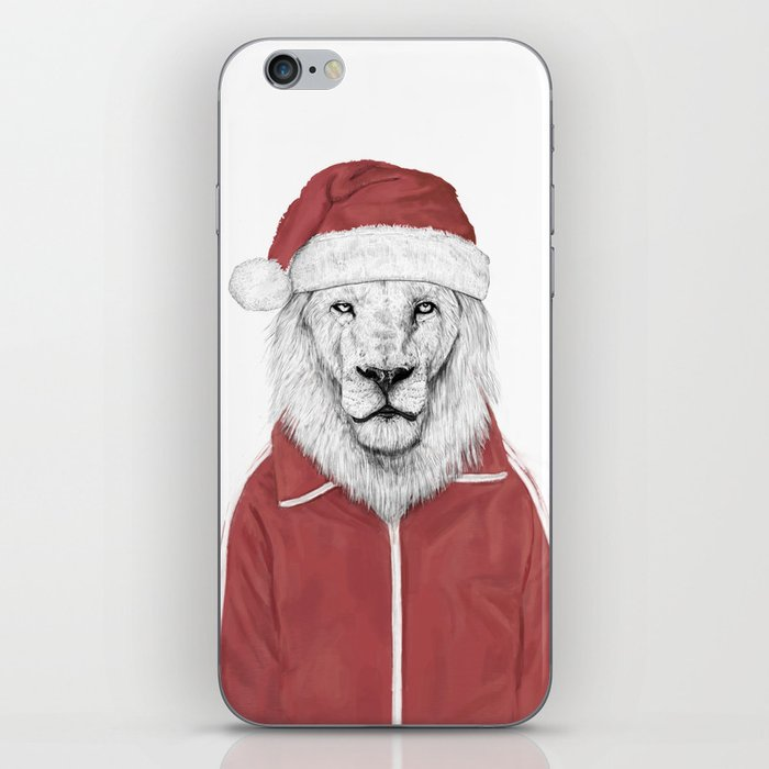 Santa lion iPhone Skin