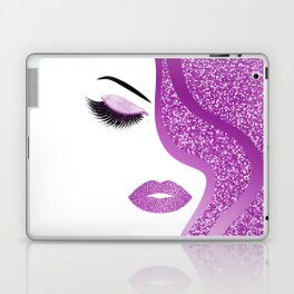 Purple glitter woman Laptop & iPad Skin
