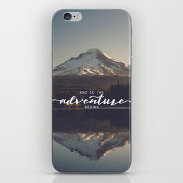 Trillium Adventure Begins - Nature Photography iPhone Skin