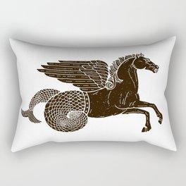 Hippocampus Sea Horse Myth Retro Vintage Rough Design Rectangular Pillow